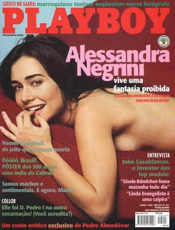 Alessandra Negrini pelada na revista Playboy