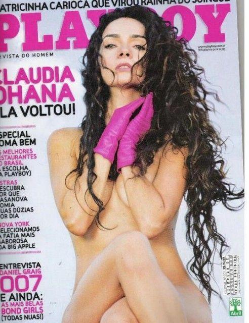Cláudia Ohana nua na revista Playboy